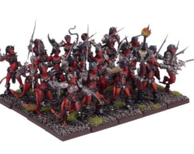 Kings Of War: (Forces Of The Abyss) Succubi Regiment - Mantic Games