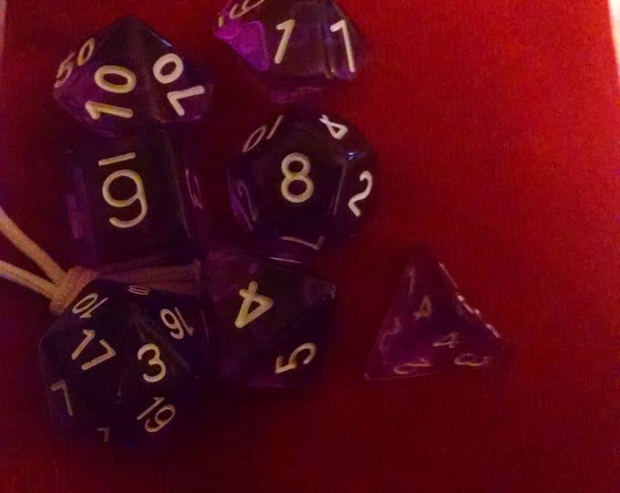 Lavender - 7 Die Polyhedral Set