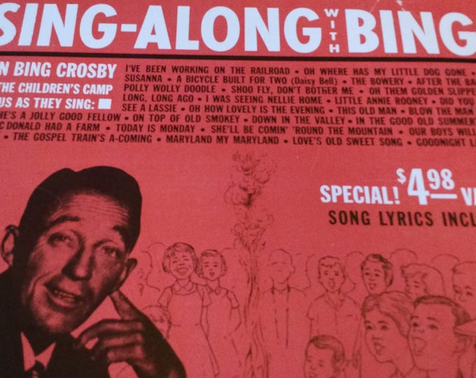 Sing-Along with Bing Crosby and the Children's Camp Chorus 1960s - Vinyl Record