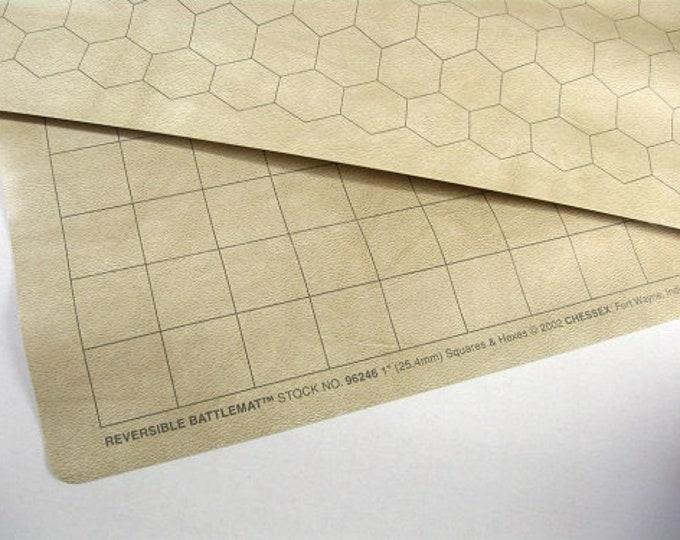"Reversible Battlemat (1"" Squares / 1"" Hexes) - CHX96246 - Chessex"