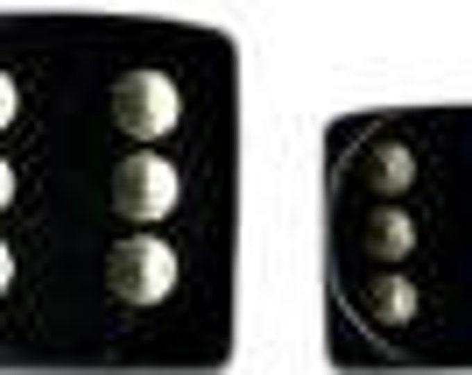 Black/Gold Opaque 12mm d6 (36) - CHX25828 - Chessex