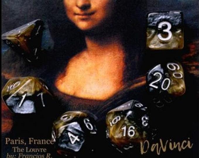 Halfsies DaVinci 7-Die Polyhedral Dice Set - Gate Keeper Games