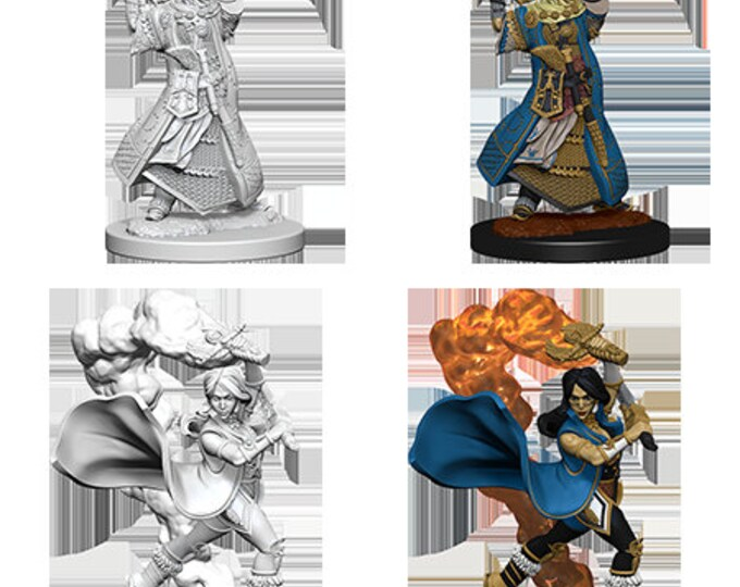 Pathfinder Unpainted Minis: Human Female Cleric - 72601 - WizKids