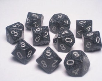 Ninja Speckled d10 Set (10) - CHX25118 - Chessex