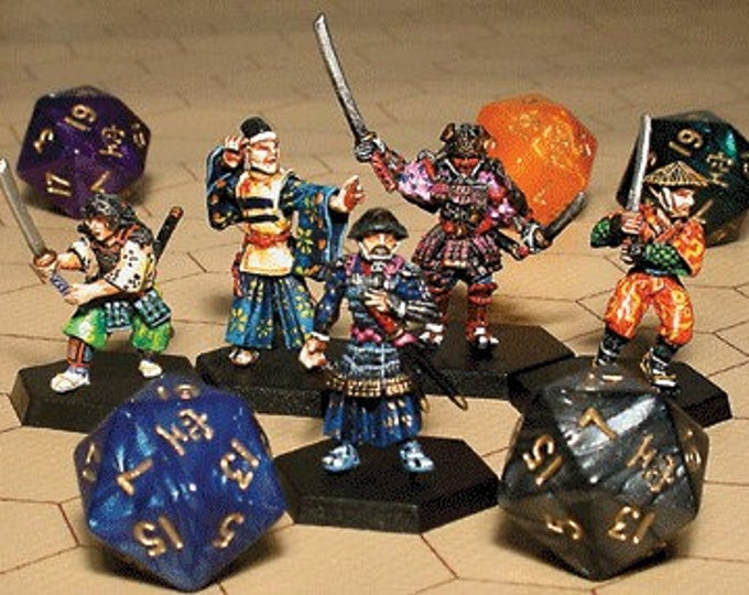 Oriental Blades Miniatures Set #2 (5) Solid Pewter, Fully Painted - 40011 - Crystal Caste