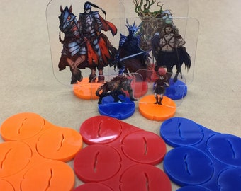 Flat Pack Miniatures: Colored Bases (Available in Various Colors!) - ArcKnight