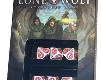 The Lone Wolf Adventure Game Deluxe Dice Set - CB72218 - Cubicle 7 Entertainment