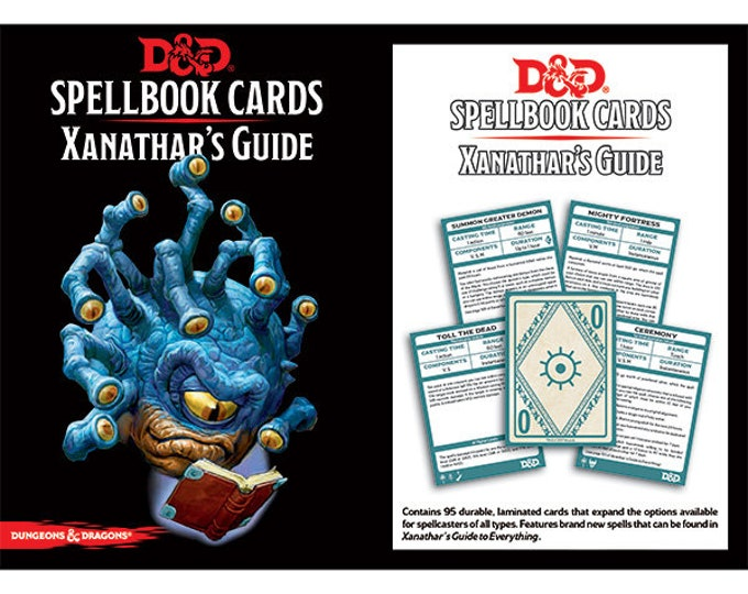 D&D 5th Edition: Spellbook Cards - Xanathar's Guide to Everything - Gale Force 9