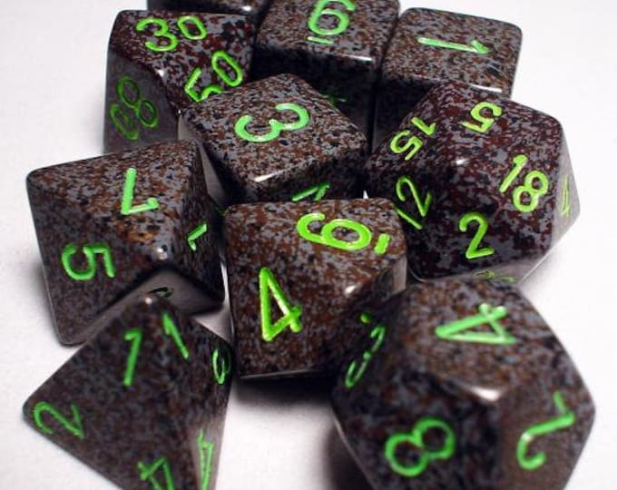 RPG Dice Sets: Earth Polyhedral 10-Die Set