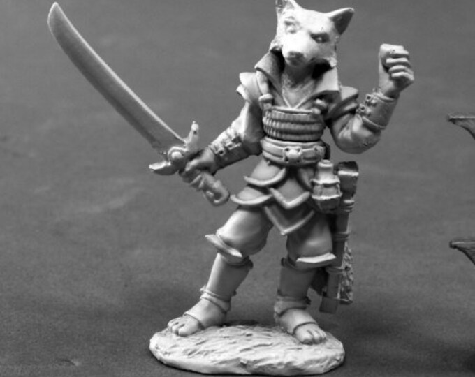 Reaper 03801: Kogo, Female Kitsune 28mm Dark Heaven Legends Metal Miniature - Reaper Miniatures