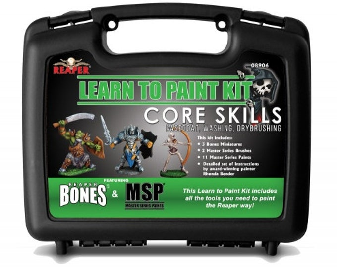 08906: Learn to Paint Kit - Core Skills - Reaper Miniatures