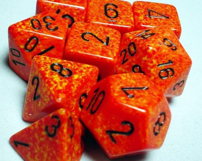 RPG Dice Sets: Fire Polyhedral 10-Die Set