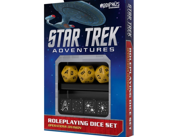 Star Trek Adventures RPG: Dice Set - Operations Gold - 051073 - Modiphius Entertainment
