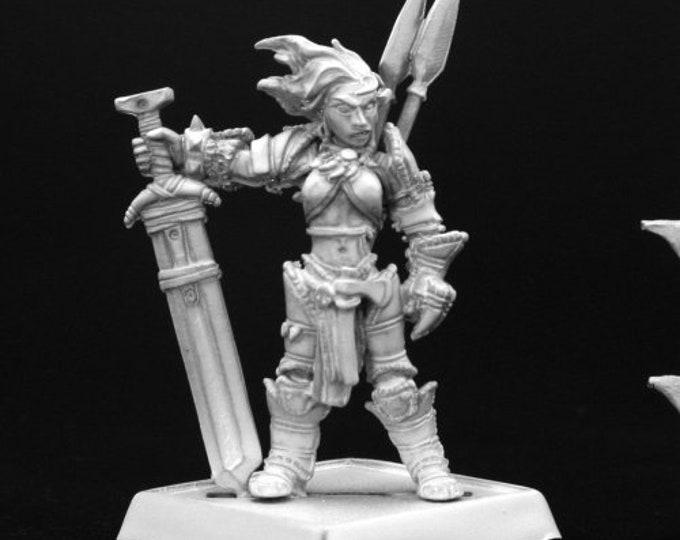 60003: Amiri, Iconic Female Human Barbarian - Reaper Miniatures