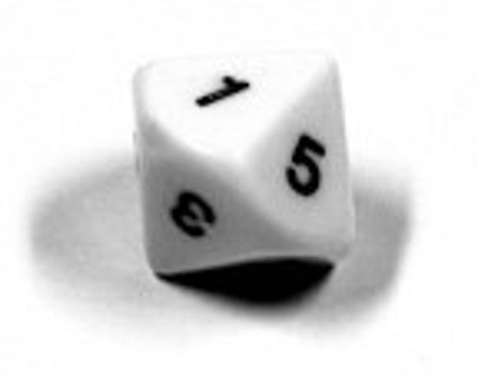 Unusual Dice - d5 Ten-Sided Die