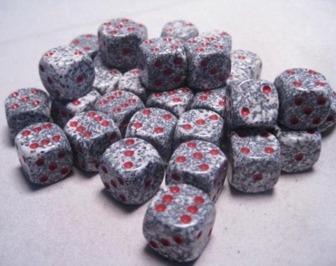 Granite Speckled 12mm d6 (36) - CHX25920 - Chessex