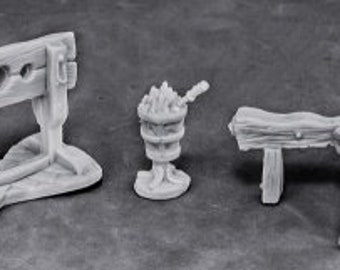 77442: Torture Equipment 1 - Reaper Miniatures