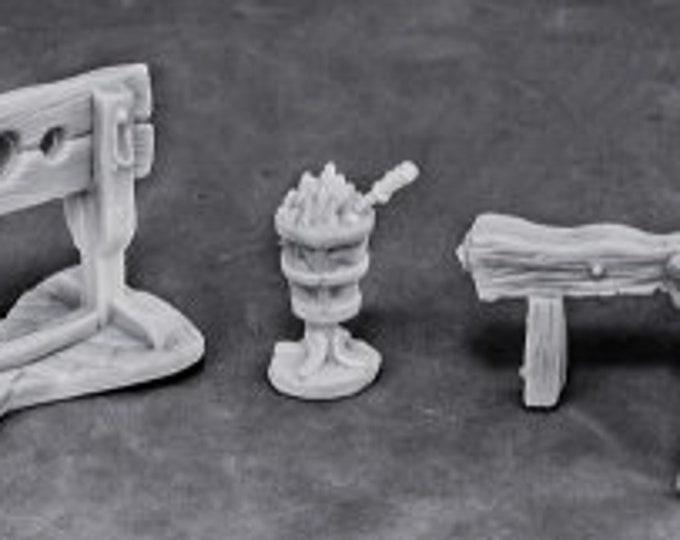 77442: Torture Equipment 1 - Reaper Miniatures