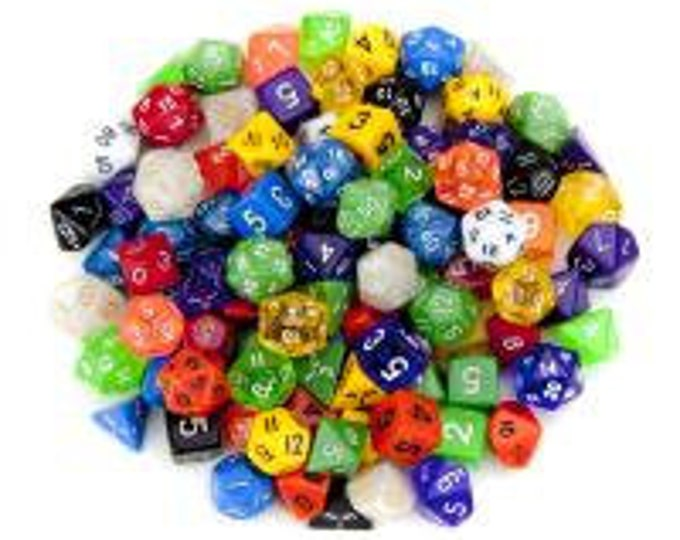 WizDice 100+ Pack of Random Polyhedral Dice in Multiple Colors, Series 1