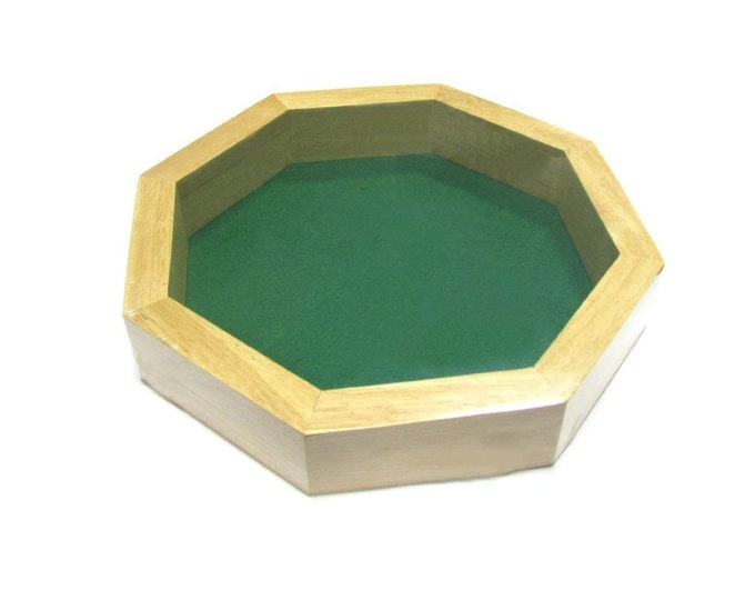 10 inch Wooden Octagonal Dice Tray