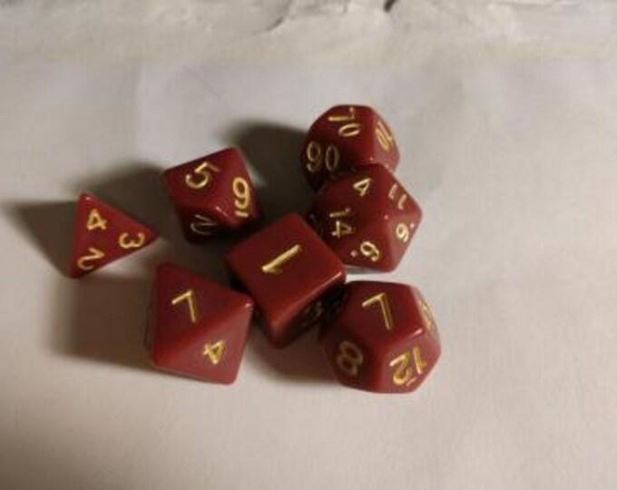 Terracotta - 7 Die Polyhedral Set