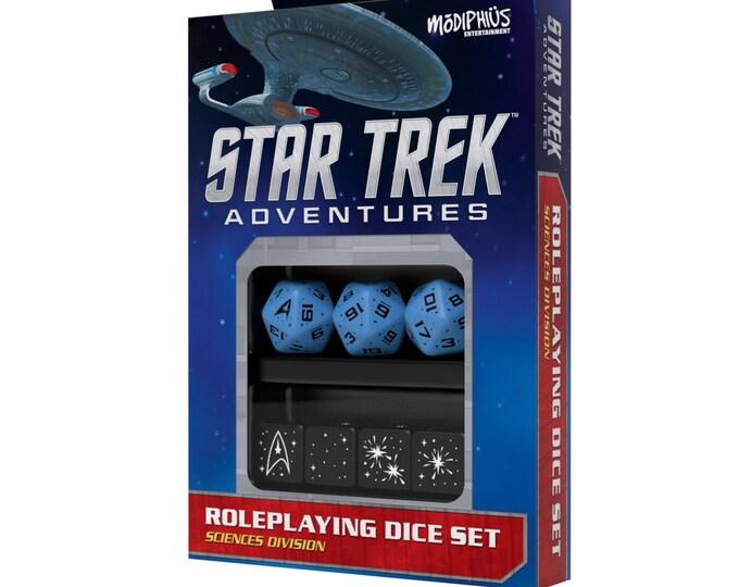 Star Trek Adventures RPG: Dice Set - Sciences Blue - 051074 - Modiphius Entertainment