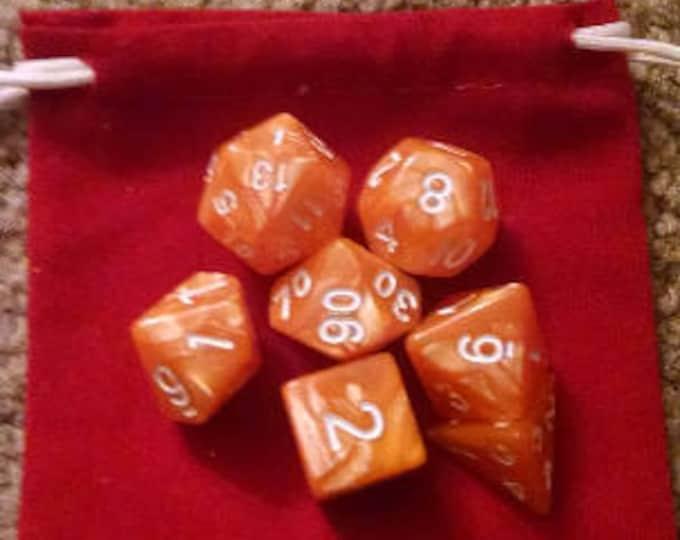 Creamsicle - 7 Die Polyhedral Set