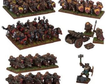 Kings Of War: 2nd Edition (Dwarf) Dwarf Army - Mantic Games (Backorder)