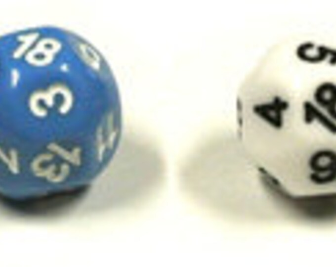 Unusual Dice - d18 Eighteen-Sided Die