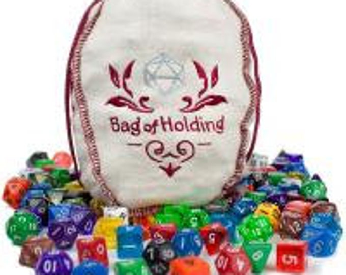 WizDice Bag of Holding (140 Polyhedral Dice in 20 Complete Sets)