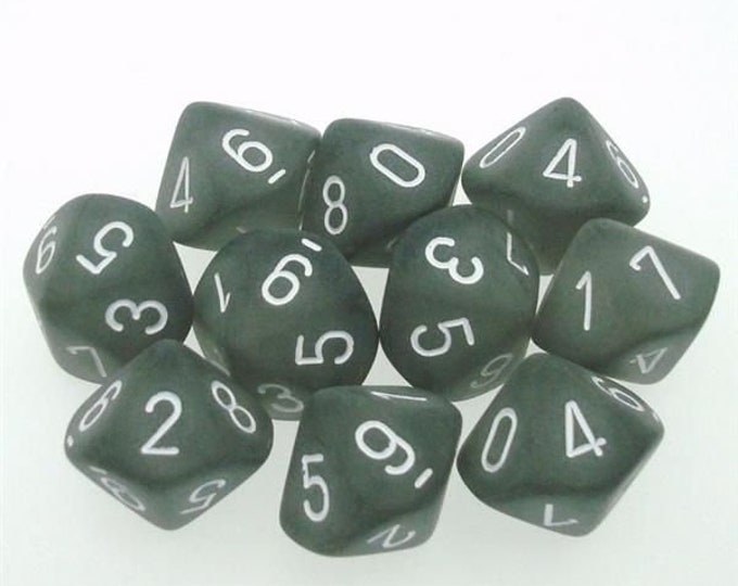 10d10 Frosted: Smoke/White - CHXLT431 - Chessex