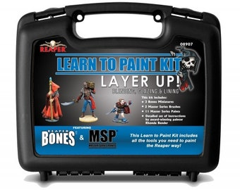08907: Learn to Paint Kit - Layer Up! - Reaper Miniatures