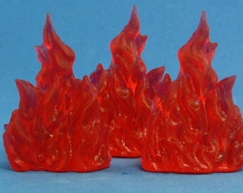 77080: Wall of Fire (3) - Reaper Miniatures