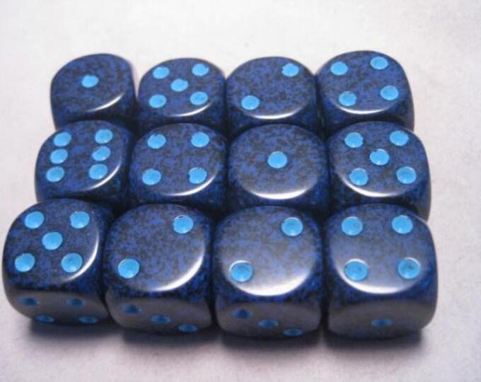 Cobalt Speckled 16mm d6 (12) - CHX25707 - Chessex