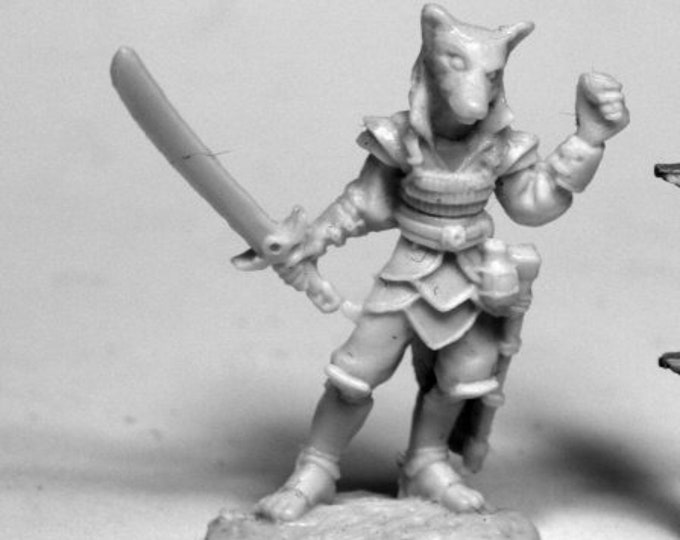 Reaper 77473: Kogo, Male Kitsune 28mm Dark Heaven Bones Plastic Miniatures - Reaper Miniatures