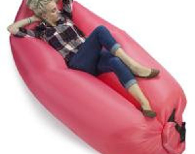 Inflatable Camping Couch, Salmon - Grizzly Peak