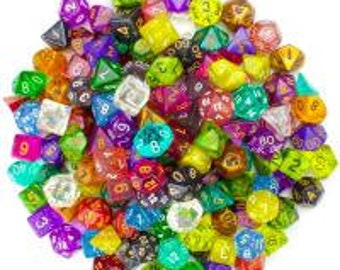WizDice 100+ Pack of Random Polyhedral Dice in Multiple Colors, Series 2