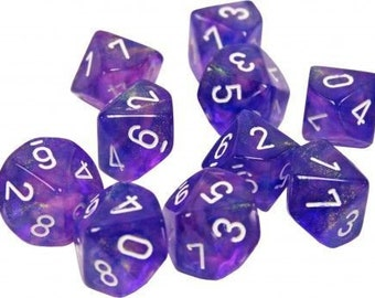 10d10 Borealis: Purple/White - CHX27207 - Chessex
