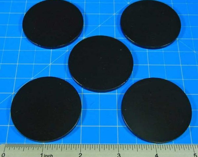 RPG Bases: 2'' Large Circular Figure Size (5) - LITKO Game Accessories