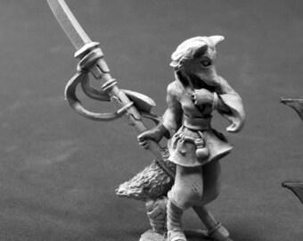 Reaper 03802: Dijoro, Female Kitsune 28mm Dark Heaven Legends Metal Miniature - Reaper Miniatures