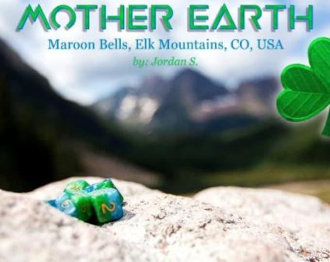 Halfsies Mother Earth 7-Die Polyhedral Dice Set - Gate Keeper Games