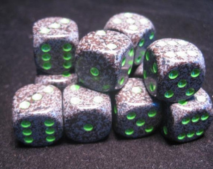 Earth Speckled 16mm d6 (12) - CHX25710 - Chessex
