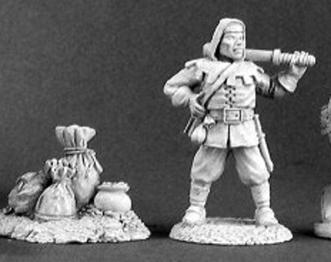 02677: Townsfolk IV Bandits and Loot (4) - Reaper Miniatures