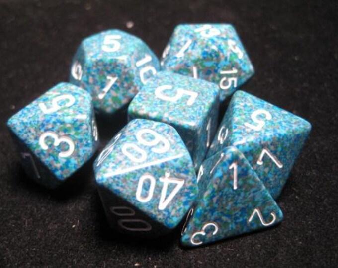 Sea Speckled Polyhedral 7-Die Set - CHX25316 - Chessex
