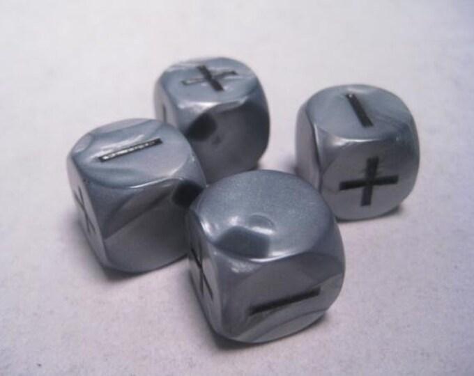 Fudge Dice: Olympic Silver - GGG9004OS - Grey Ghost Press