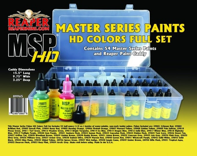 09965: Master Series HD Paint Complete Set - Reaper Miniatures