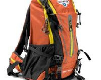 45L Internal Frame Backpack, Orange - Grizzly Peak