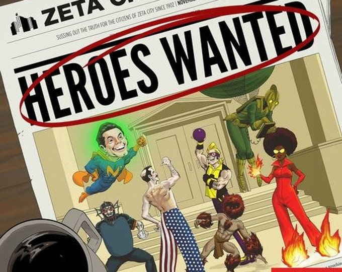 Heroes Wanted: Superhero Card Game - Action Phase Games