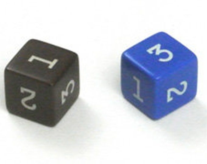 Unusual Dice - d3 Six-Sided Numeral Die