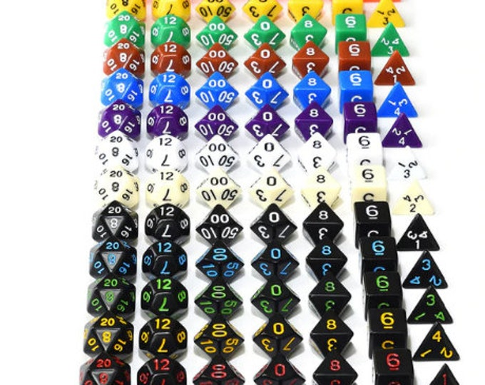Besglo 7 Die Polyhedral Dice Set (D4, D6, D8, D10, D00, D12, D20) - Purchasing Cooperative